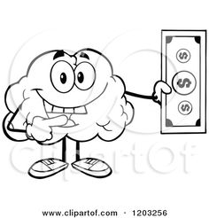 236x246 Dollar Bill Wearing Boxing Gloves. Vector Collection Set Cartoon
