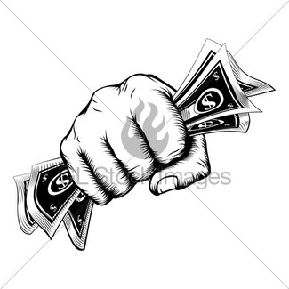 325x325 Hand Holding Money Drawing Gl Stock Images