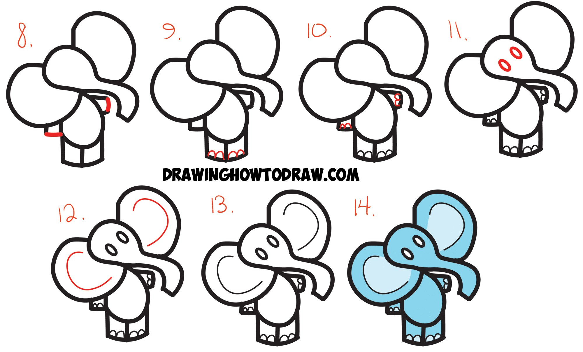 2000x1207 Easy Cartoon Drawings For Beginners Step By
