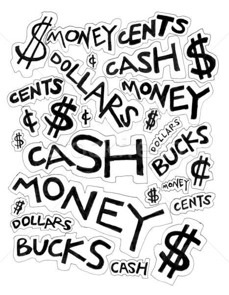 467x600 Cash Money Dollars Bucks And Cents Drawing Stock Photo Gabriel