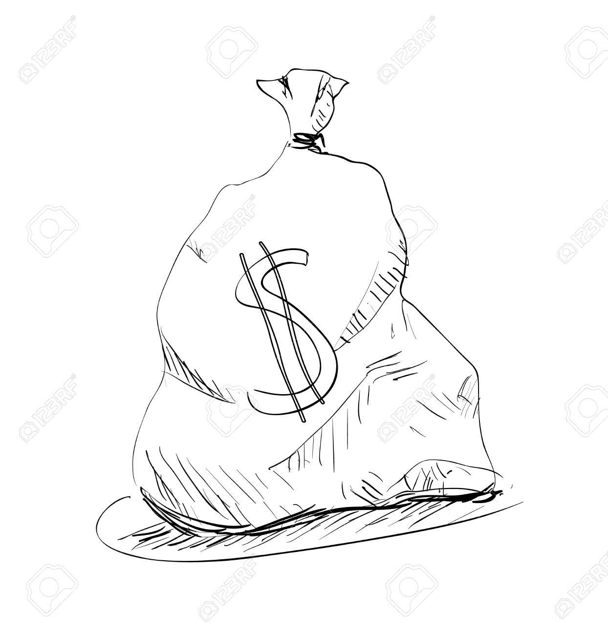 1244x1300 Money Bag With Dollar Sign Royalty Free Cliparts, Vectors,