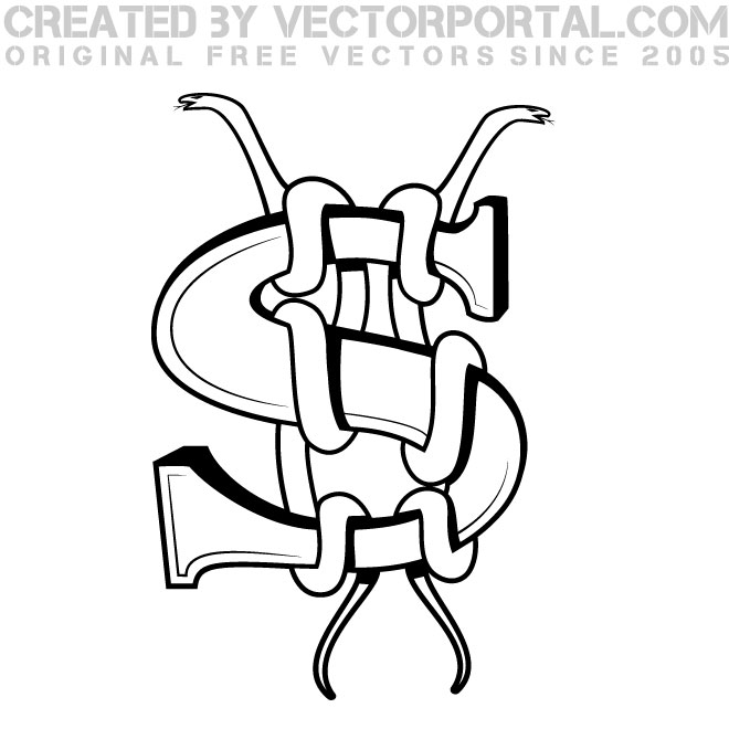 660x660 Dollar Sign And Snakes Vector