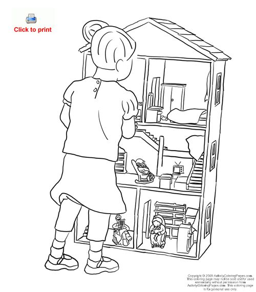 500x570 Dollhouse Coloring Pages Coloring Pages Wallpaper