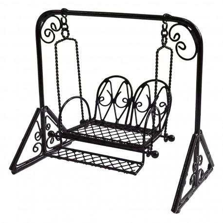 458x458 Metal Garden Swing Rocking Hanging Chair 116 Doll's Dollhouse