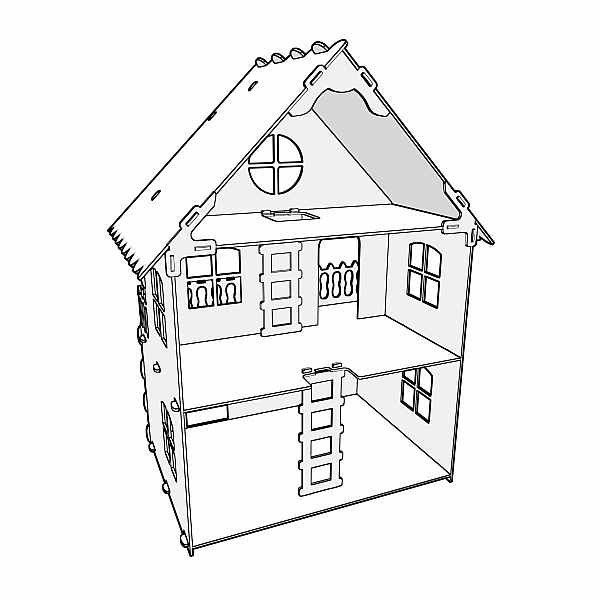 600x600 Natural 112 Scale Dollhouse Plans. Dolls 4 7 Inch (12 16 Cm) Hi