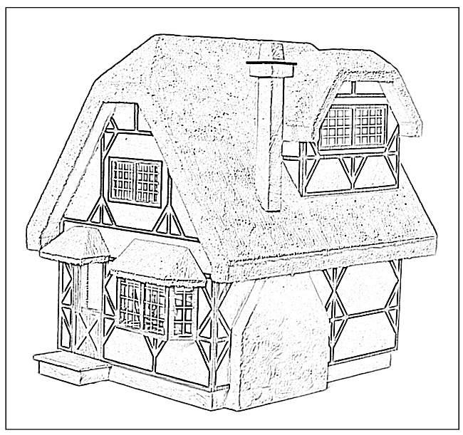 650x611 Cottages Coloring Pages Doll House Coloring Book Custom