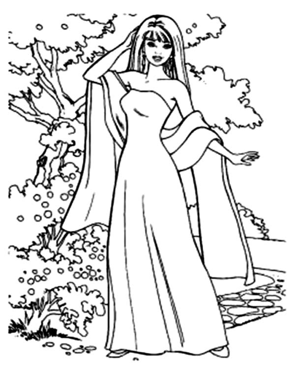 600x777 How To Draw Barbie Doll Coloring Page Coloring Sun