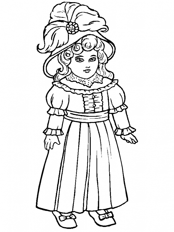 719x960 Image Detail For Coloring Page Antique Doll Coloring Page Print