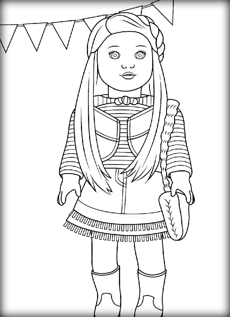 744x1024 Printable Coloring Pages American Girl Dolls Preschool To Humorous