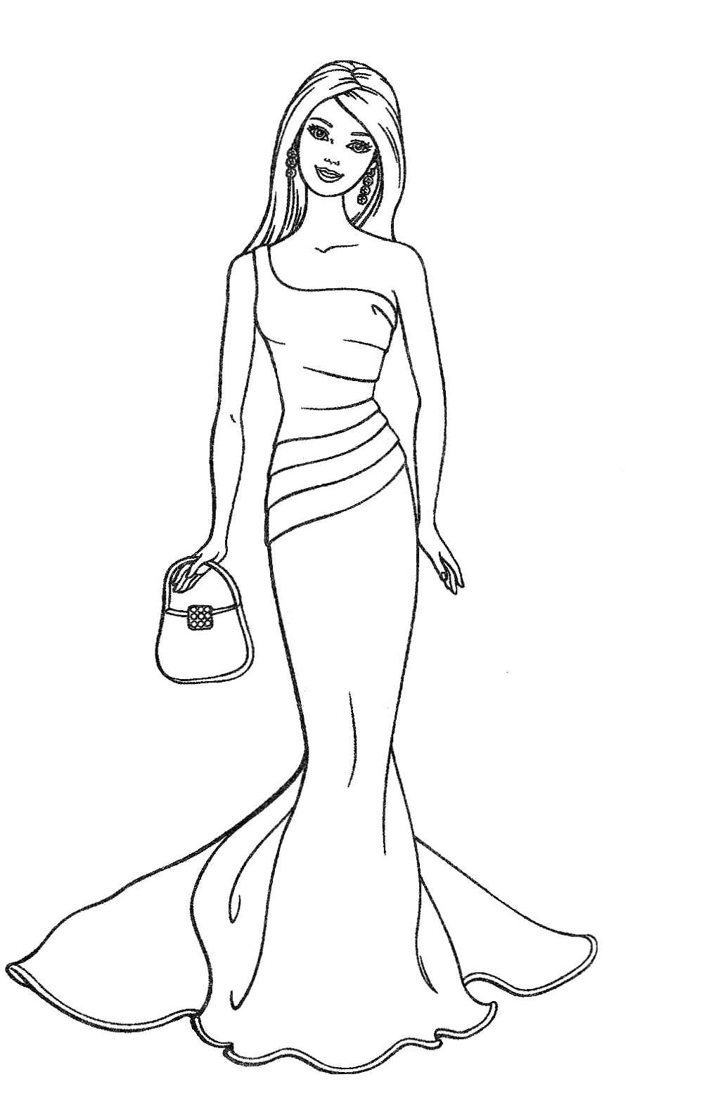 1011x1589 Sketch Of Barbie Dolls