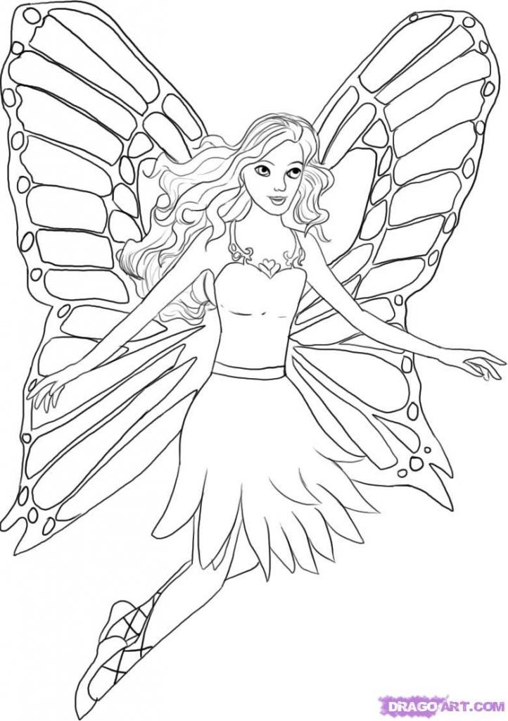 722x1024 Barbie Doll Sketch Drawing