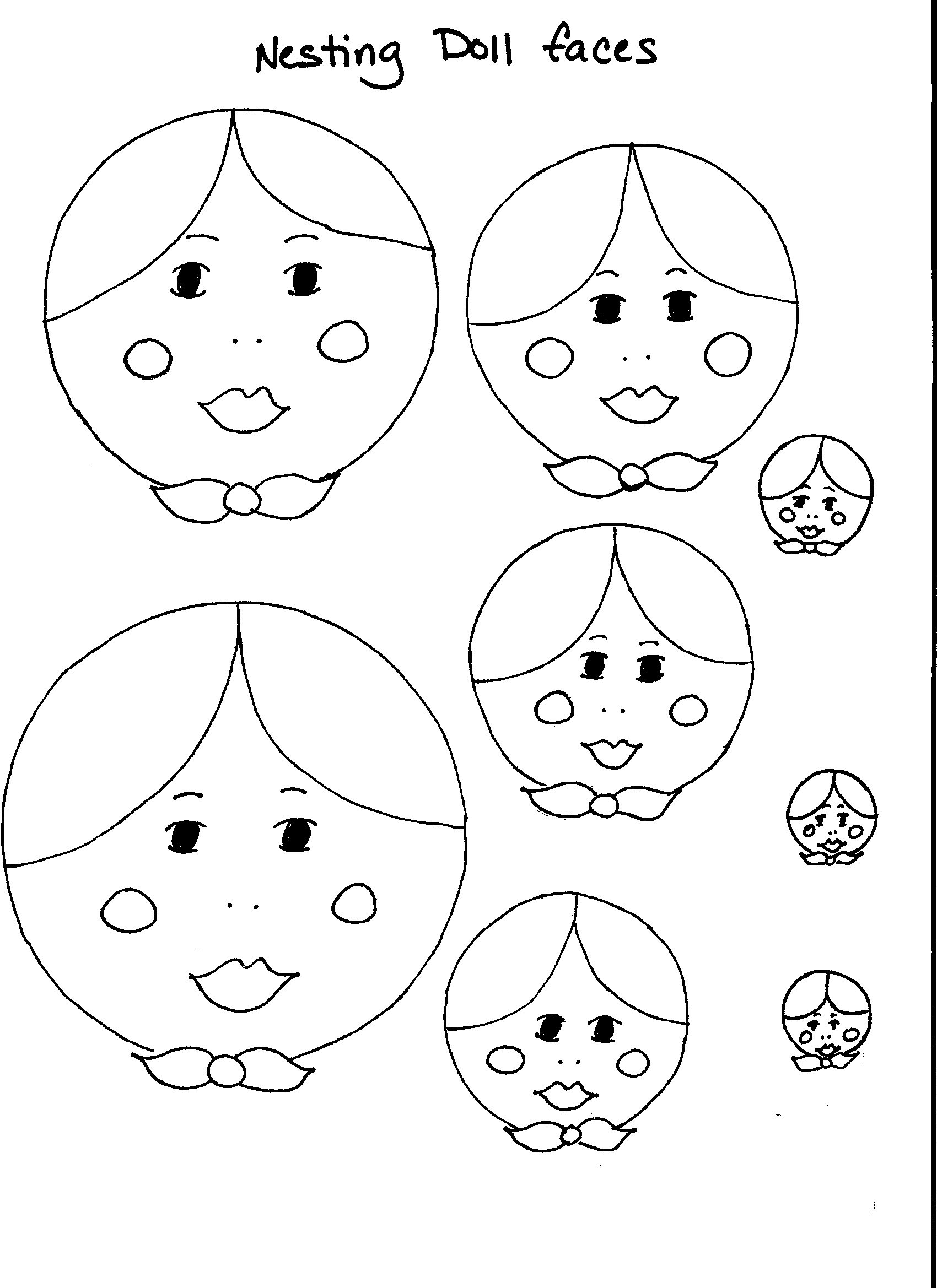 Dolls Faces Drawing at GetDrawings.com | Free for personal use Dolls ...
