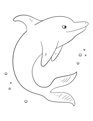 371x480 Cute Dolphin Coloring Page Free Printable Coloring Pages