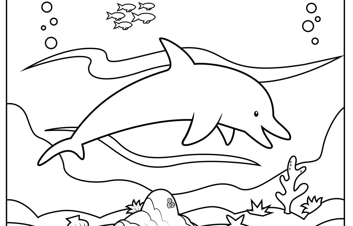 1200x768 Coloring Dolphins Coloring Pages Dolphin Outline. Dolphins