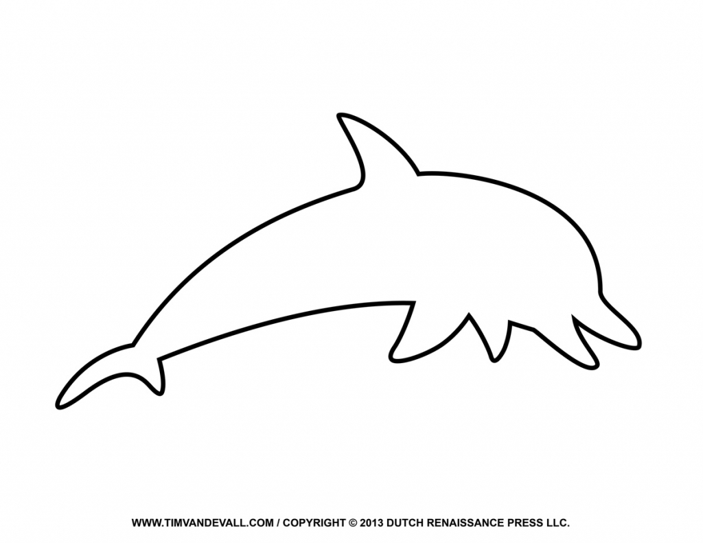 1024x791 Dolphin Drawing Outline