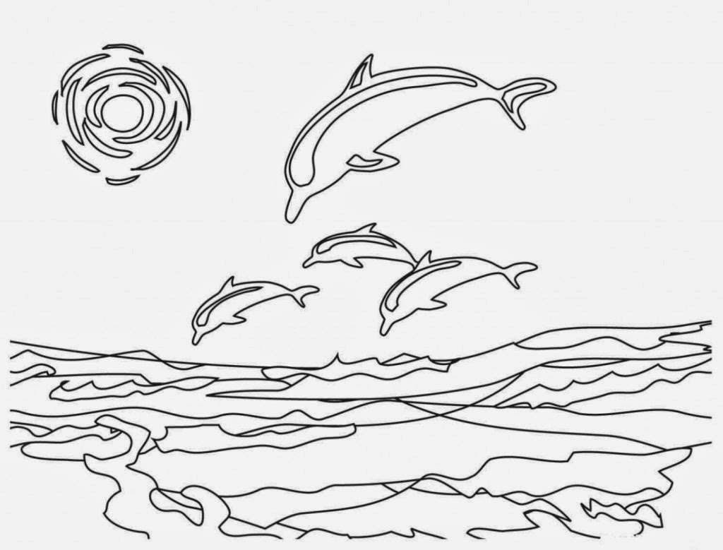 Dolphin Drawing Image at GetDrawings.com | Free for personal use ...