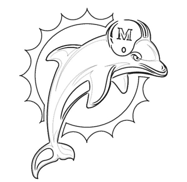 600x585 It S Here Miami Dolphins Coloring Pages Learn How To Draw Logo Nfl