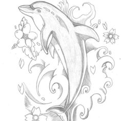 236x236 Dolphin Clipart Tattooed Drawings, Sketches