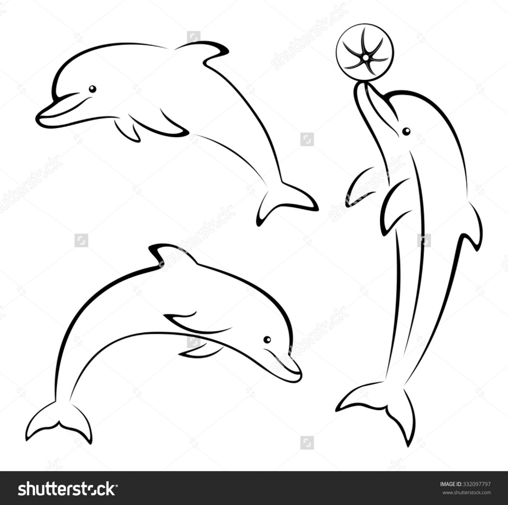 1024x1017 Dolphin Cartoon Drawing Cartoon Drawing Dolphin How To Draw