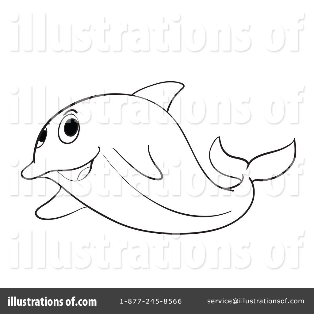 Dolphin Fish Drawing at GetDrawings.com | Free for personal use ...