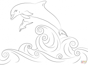 300x224 Dolphin 18 For Coloring Page