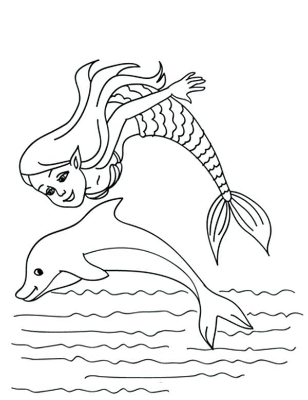 600x777 Dolphin Coloring Page Dolphin Coloring Pages Dolphin And Mermaid