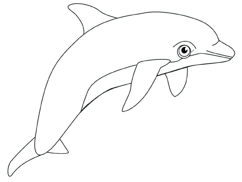 921x691 Cheap Dolphin Coloring Pages Online Splash Jump In The Air Page