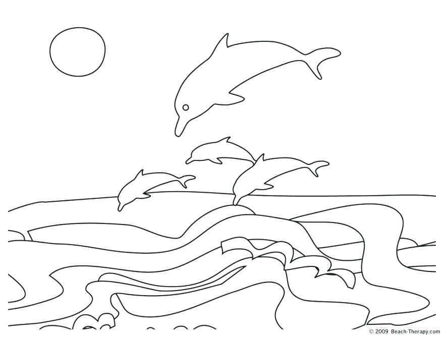 878x668 Dolphin Coloring Sheet Best Collection Coloring Pages