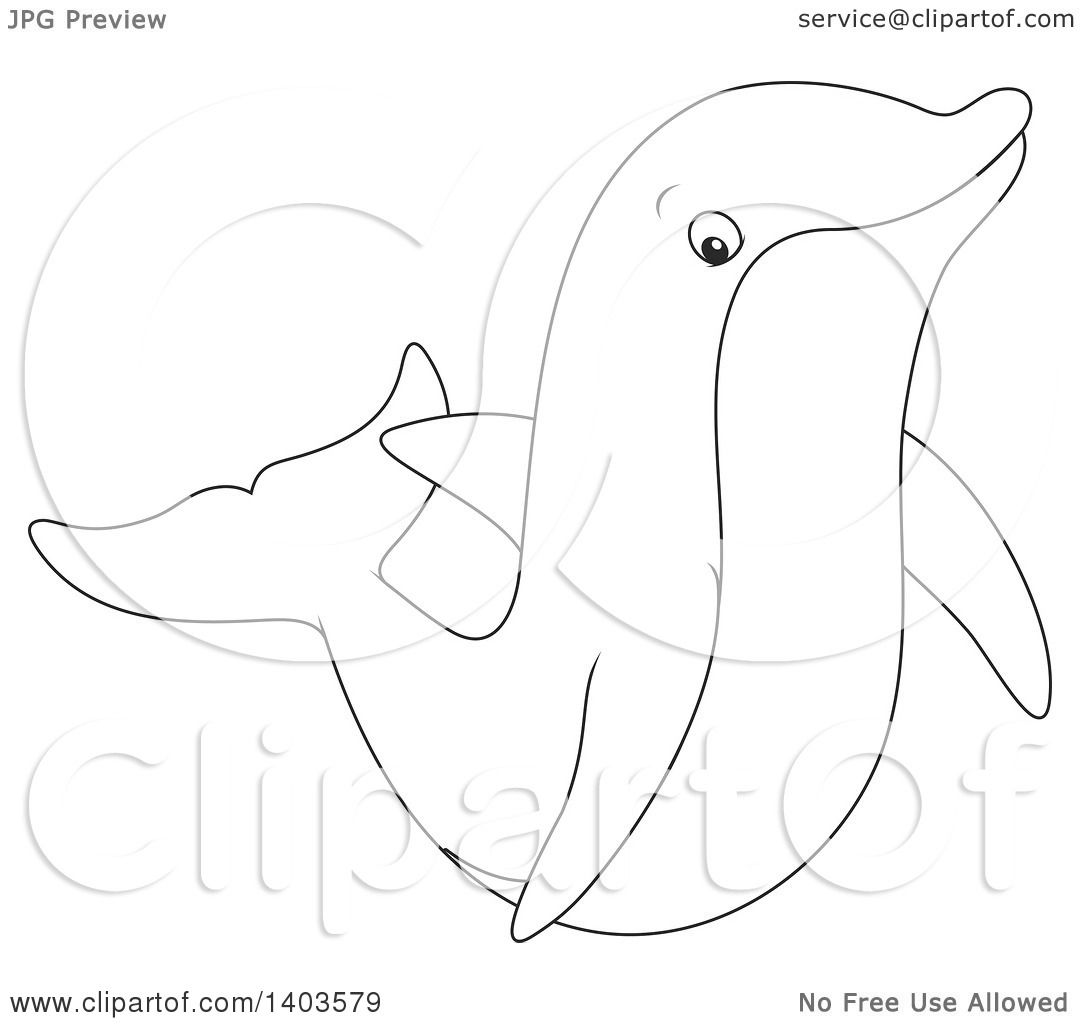 1080x1024 Clipart Of A Black And White Lineart Dolphin Swimming Or Jumping