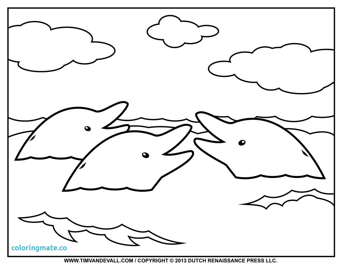 1200x927 34 Dolphin Coloring Page