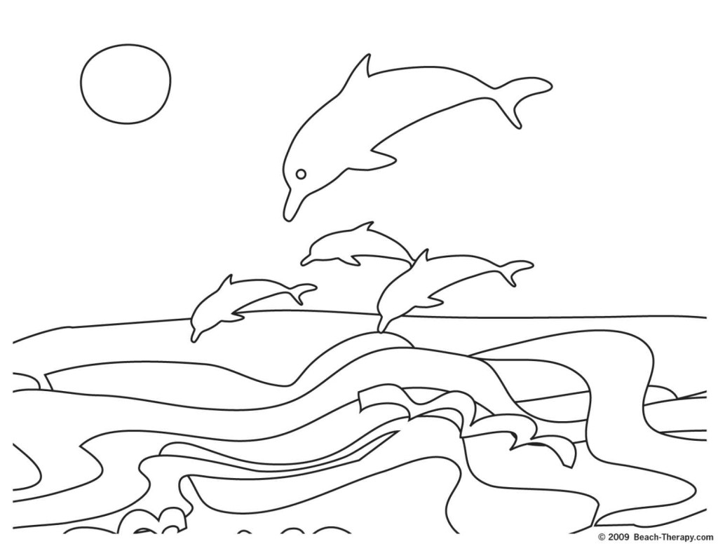 1024x779 Easy Dolphins Coloring Page Click Small Image Open Large Bebo Pandco