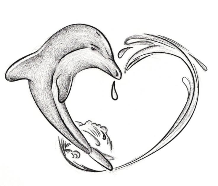 736x629 Awesome Dolphin Tattoo Designs