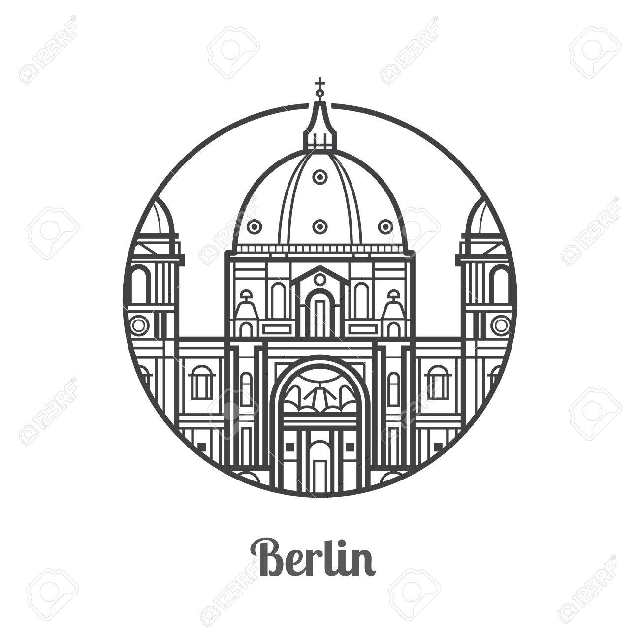1300x1300 Travel Berlin Icon. Dome Cathedral Is One Of The Famous Landmarks