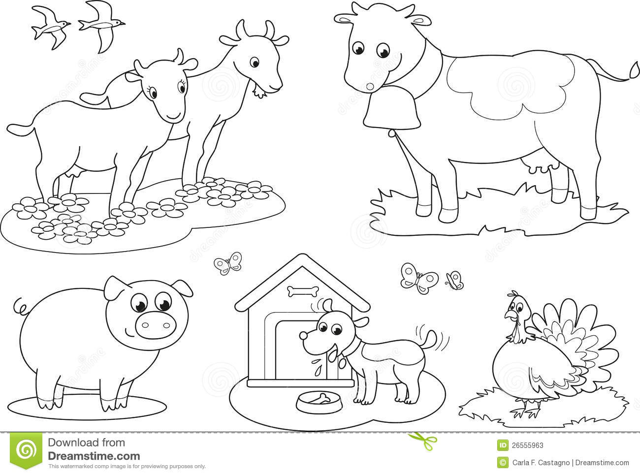 1300x967 Farm Animals Coloring Pages Pdf Tags How