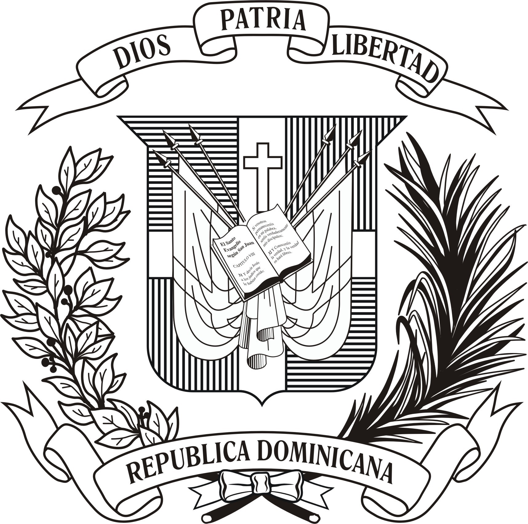 Dominican Flag Drawing at GetDrawings.com   Free for personal use ...
