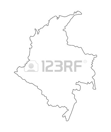 Dominican flag drawing at getdrawings free for personal use 380x450 republic of colombia vector map isolated on white background publicscrutiny Gallery