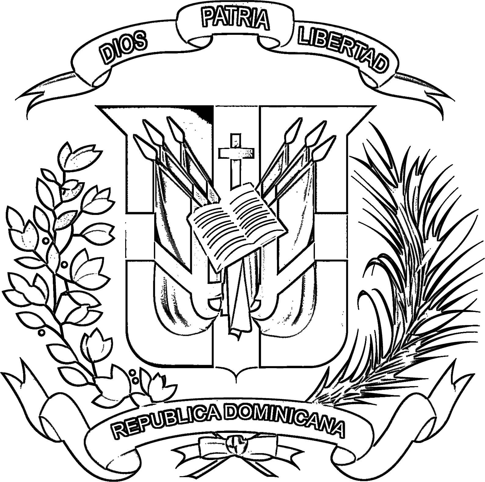 1588x1579 Escudo De Republica Dominicana Para Imprimir