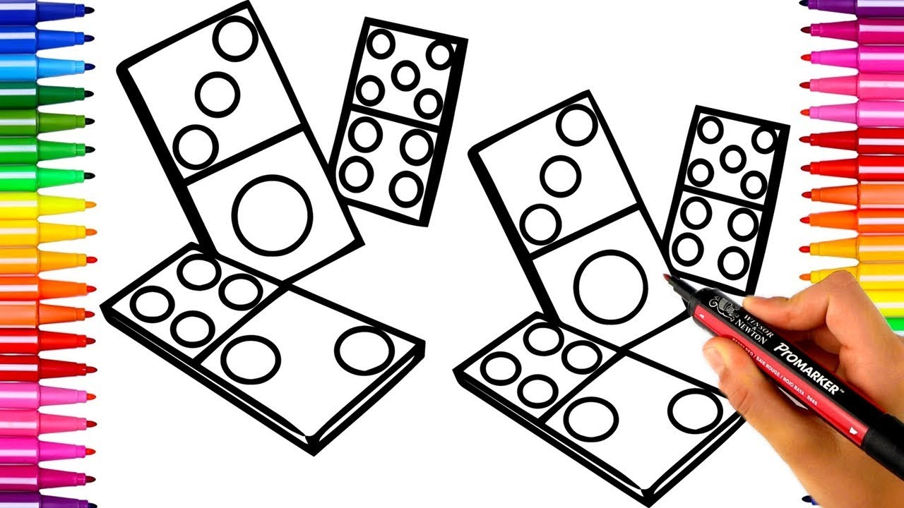 1280x720 How To Color Dominos With Pro Markers