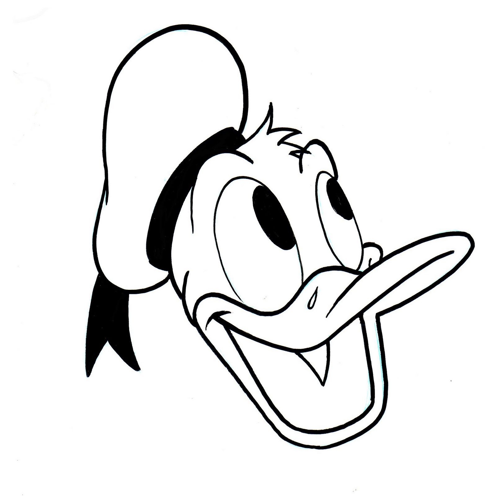 donald duck drawing at getdrawings free