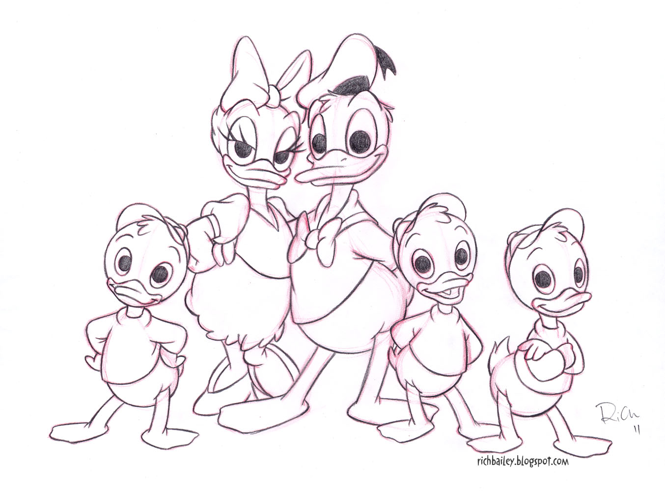 Donald Duck Drawing at GetDrawings.com | Free for personal use ...