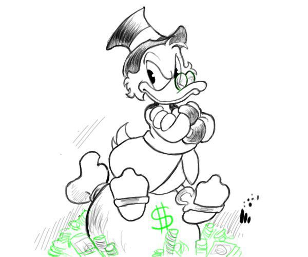 600x500 How To Draw Disney Characters Scrooge Mcduck