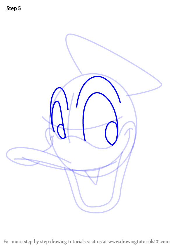 600x846 Learn How To Draw Donald Duck Face From Mickey Mouse Clubhouse