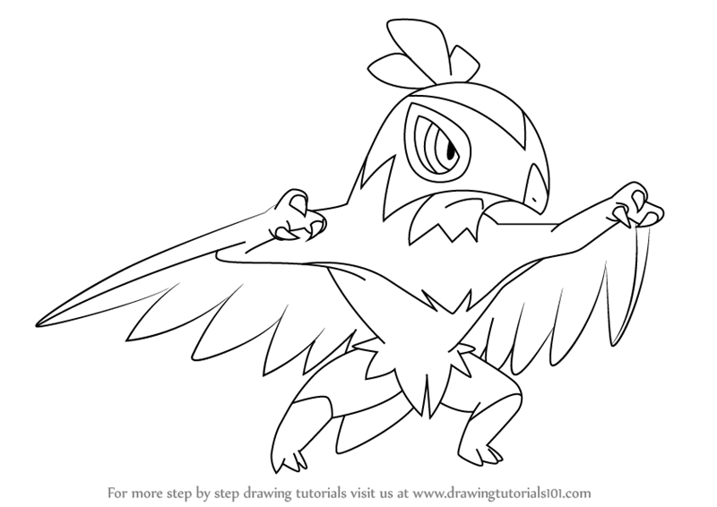 800x566 Learn How To Draw Hawlucha From Pokemon (Pokemon) Step By Step