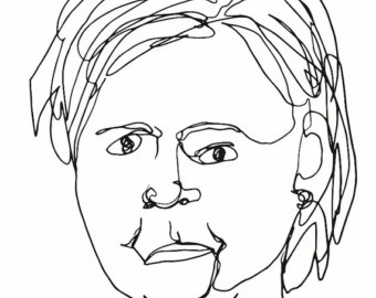 340x270 Donald Trump Blind Line Drawing