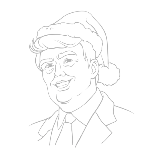 500x500 Donald Trump Famous Actors Caricature How To Draw