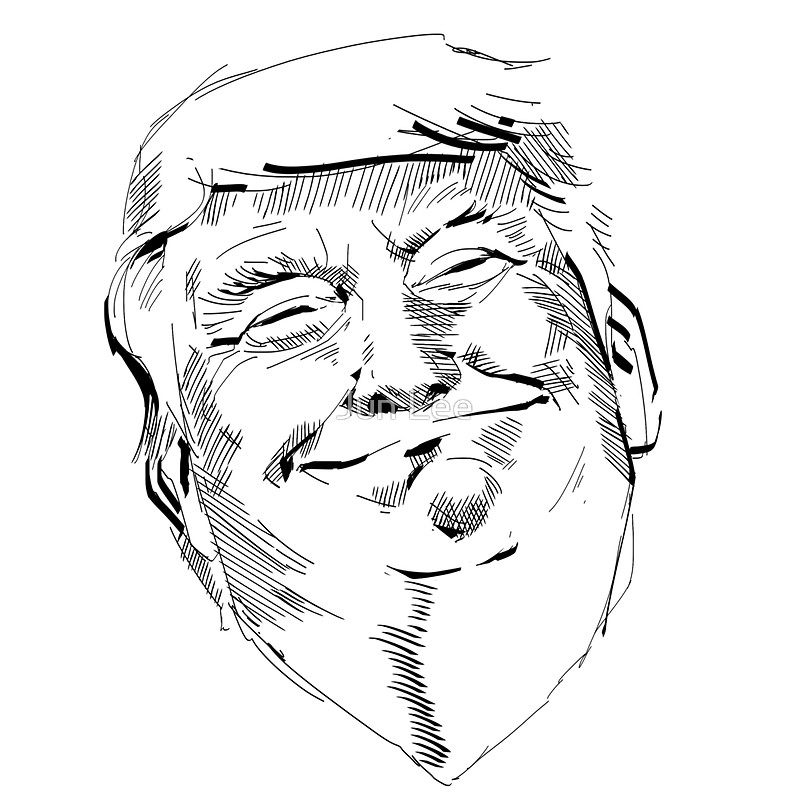 800x800 Donald Trump Face Sticker Stickers By Jun Lee Redbubble