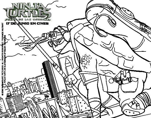 600x470 Donatello Ninja Turtles Coloring Page