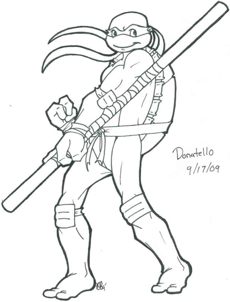 900x1181 Scrap Donatello Lineart By Shellsweet
