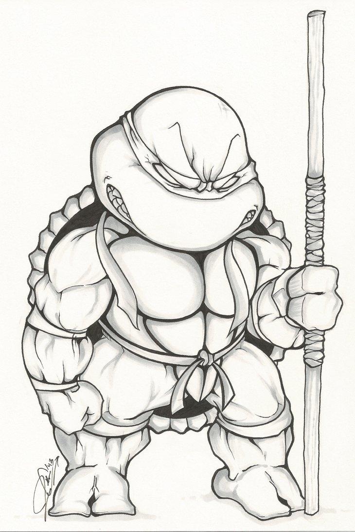 730x1095 Tmnt Chibi Donatello By Dendeone