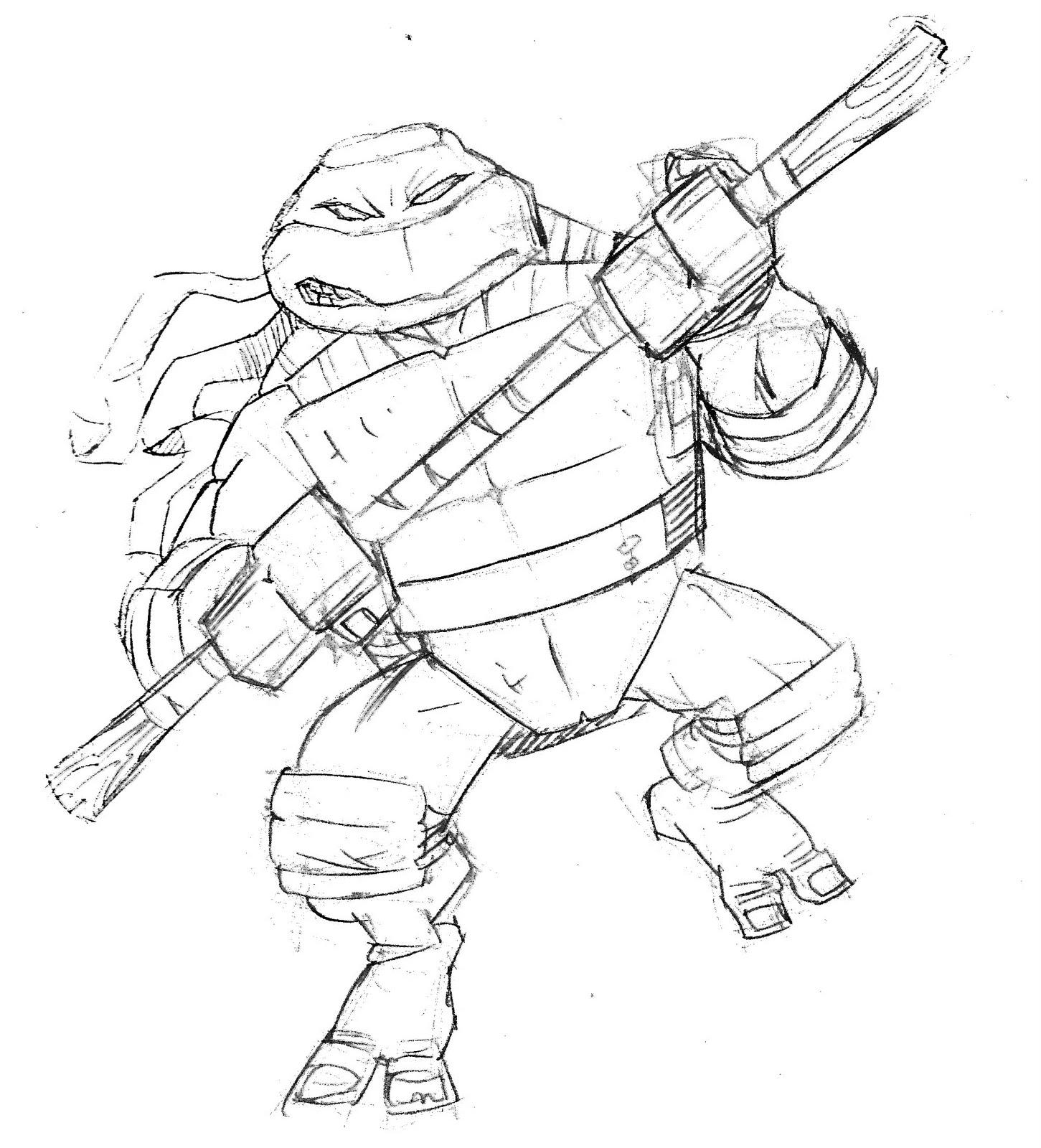 1451x1600 Tmnt Donatello Scoot Sketches!